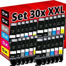 30 XL DRUCKER PATRONEN mit CHIP für CANON PIXMA MG6350 MG7150 MG7550 IP8750 grau