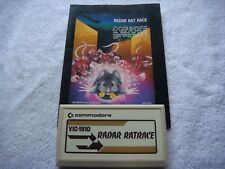 Commodore Vic 20 - Game Cartridge- Vic-1910 Ratrace with Instructiions