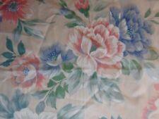 """Set 11 Vintage Sheer Curtain Drape Panels Spring Flower Design Floral Leaves 74"""""""