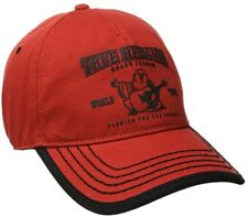 b7c70219 True Religion Puff Buddha Adjustable Baseball Trucker Hat Cap TR1988 / Red