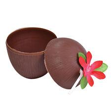 Hawaiian Coco Taza De Vidrio & Paja cóctel Divertido