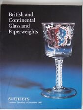 "Auktionskatalog ""British and Continental Glass"", Sotheby´s, London, 8.12.1997"