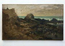 Tableau ancien signé A. Lamoureux, Daté 1896, Huile sur toile, Bretagne? XIXe