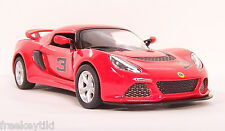 RED 2012 '12 LOTUS EXIGE S # 3  Vehicle Diecast 1/32 Pull Back Sportscar  NEW