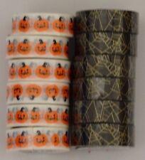 New! Lot of 12 Scotch Expressions Washi Tape Halloween Fall Pumpkins & Spiderweb