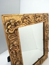 Mirror With Angels. Angels Wall Art. Resine Mirror Religious Art, Angel'S Mirror