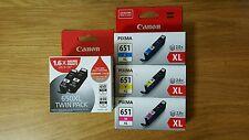 5x Genuine Canon PGI 650XL 650XL CLI 651XL C M Y IP7260MG5460 MG6360 MX726MG6150