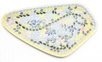 Mid Century Modern Large Tile Mosaic Ashtray Trinket Dish 1960s 60s home boho