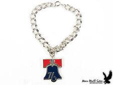 Vintage Jostens Sterling Enamel Bell Bicentennial Charm Bracelet Jewelry