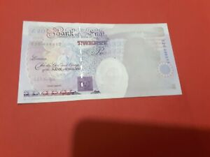 Kentfield £20  print error missing queens head etc on front  ,,gvf
