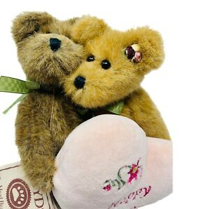 "Boyds Bears Plush Charles & Lorraine Everlove 2003 6"" Happy Anniversary Heart"