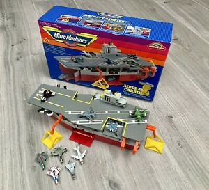Micro Machines 1987 Vintage Galoob Aircraft Carrier Boxed + 9 Imperial Planes