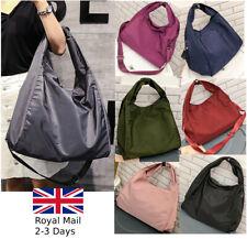 Large Women Ladies Waterproof Nylon Travel Tote Bag Shoulder Handbag Shopper