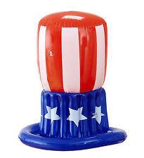 Usa American Uncle Sam Inflable Stars And Stripes Fancy Dress Accesorio