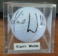 Karri Webb Signed Golf Ball LPGA