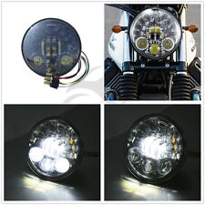 """New 5.75"""" 5-3/4 LED Headlight Daymaker Black Projector For Harley Sportster Dyna"""