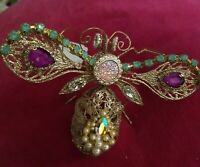 Katherine's Collection JEWELED BEE/BUG ORNAMENT - NWT !  GORGEOUS! HURRY!