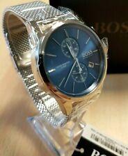 New Hugo Boss Men's Blue Jet Mesh Watch HB1513441 - 2 Year Warranty UK Stock