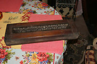 Antique Victorian Wood Mold Form Block #2 Architectural Furniture Mold Old