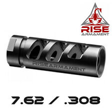 Rise Armament Black Nitride RA-701 Compensator / Muzzle Brake for 7.62/308