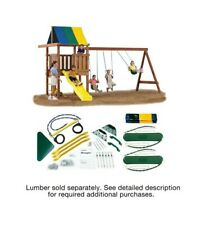 Swing-N-Slide Wrangler DIY Play Set Hardware Kit (Wood and Slide not included)