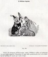 IL DENTISTA DEL SULTANO. Caricatura del 1845. Dentiste. Dentist. Zahnarzt. 1929