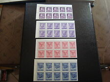 BOHEME ET MORAVIE - timbre -yvert et tellier n°101 a 104 x10 n* et n** (A6)stamp