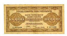 Poland ... P-34a ... 100.000 Marek ... 1923 ... *F/VF*