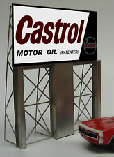 Miller's Castrol Motor Oil  Animated Neon Sign O/HO Miller Engineering