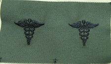 US ARMY MEDIC OFFICER BADGE CADUCEUS MEDICAL CAMO BDU SHIRT SUBDUED OLIVE DRAB
