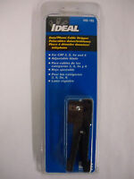 IDEAL 45-165 Data/Phone Cable Stripper CAT3 CAT5 CAT5e CAT6 CAT 3 5 5e 6 NEW