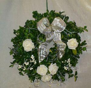 Buchsbaumkranz für die Silberhochzeit- goldene Hochzeit - Konfirmation -Hochzeit