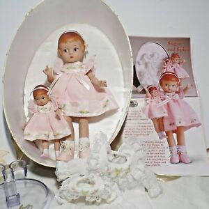 Robert Tonner Effanbee's Sugar and Spice Patsyette dolls in lined oval box
