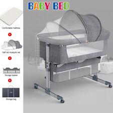 Baby Bassinet Adjustable Height Portable Cradle Infant Bedside Co-Sleeping Cot