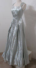 "Vintage Gray Satin Lavender Lined Formal Gown ""Blanca Cardenas"" S"