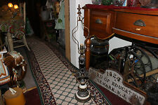 Vintage Victorian Gothic Medieval Table Lamp-#1-Marble Base-Intricate Designs
