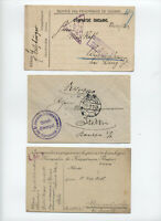 3 World War I military / POW cards and covers [y5460]