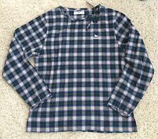 Dog Dept Santa Monica Clothing Plaid 100% cotton tie front side keyhole shirt M