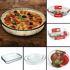 Borcam Glass Baking Roasting Dish Casserole Pan Pie Oven Dish Tray Food Roaster