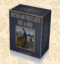 90 British Royal Air Force RAF Lists Books on DVD - World War One WW1 Two WW2 E3