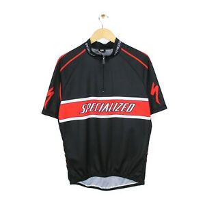 Specialized Mens Half Zip Black Cycling Short Sleeve Jersey - Size 2XL/6