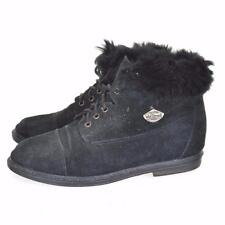 Suede Boots 1990s Vintage Shoes for Women