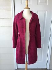 Poppy Garden Womens Trench Coat Outerwear Belted Red Size Small Fall Winter EUC