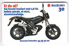 EUROPE  TELECARTE / PHONECARD .. DANEMARK 30KR TLD MOTO SUZUKI 03/99 CHIP/PUCE