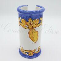 Dispenser Porta Bicchieri di Plastica in Ceramica Vietri Artiginale Barocco blu