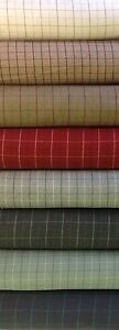 Porter+Stone Tartan Plaid Check BAMBURGH Wool Effect Upholstery/Curtain Fabric