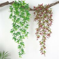 Artificial Wisteria Garland Flowers Vine Rattan Hanging Wedding Home Decor Q