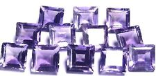 NATURAL PURPLE AMETHYST GEMSTONES LOOSE PRINCESS CUT PAIR 3 x 3 mm