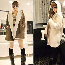 Fashion Women Ladies Cashmere Wool Long Winter Parka Coat Trench Outwear Jacket