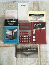 Vintage Sharp ELSI MATE EL-321 Shopping Calculator! Gorgeous Red W Original Box!